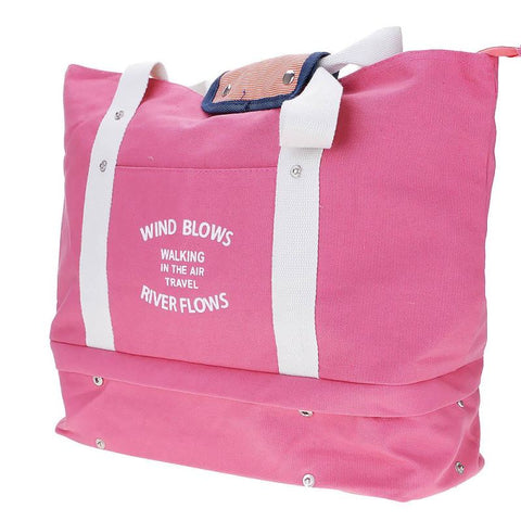 Women Canvas Duffel Sports Bag Outdoor Shoes Compartment Travel Shoulder Handbag - Pink - Free Shipping - Accessories - Bags - $34.00 | The