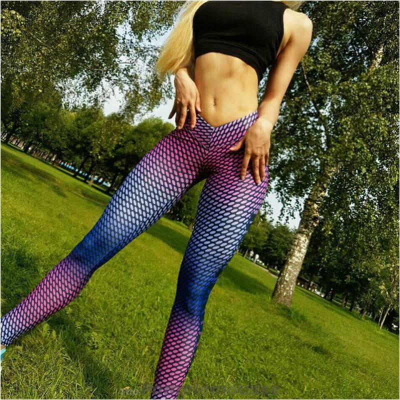 7a2acc5fde8238 Women Fitness Printed Yoga Pants Ultralight Workout Leggings Running Pants  - Free Shipping - Outdoor -