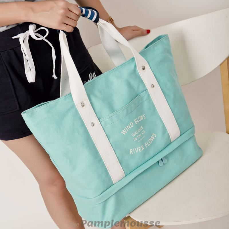 6ead8962a559 Women Foldable Independent Shoes Storage Gym Bag Outdoor Travel Shoulder Bag  - Green - Free Shipping