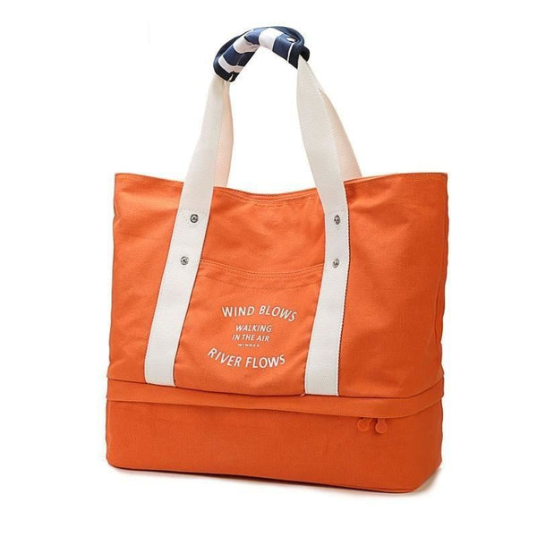 Women Foldable Independent Shoes Storage Gym Bag Outdoor Travel Shoulder Bag - Orange - Free Shipping - Accessories - Bags - $39.00 | The