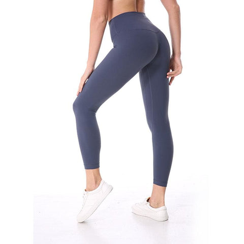 Women High Waist Yoga Fitness Leggings Running Gym Sports Pants Trousers - Blue / L - Free Shipping - Fashion - Clothing - $29.00 | The