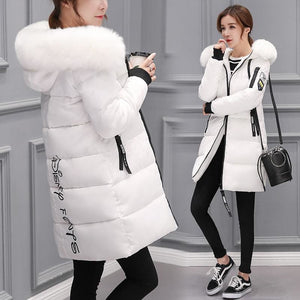 Women Long Duck Down Coat Hooded Ultralight Jacket Warm Outwear - White / M - Free Shipping - Fashion - Clothing - $40.00 | The Pamplemousse