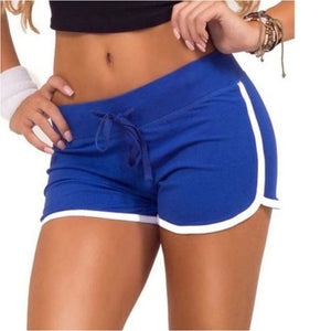 Women Sexy Casual Cotton Elastic Gym Shorts Sport Fitness Yoga Running Shorts - Blue / L - Free Shipping - Sports - Clothing - $14.00 | The