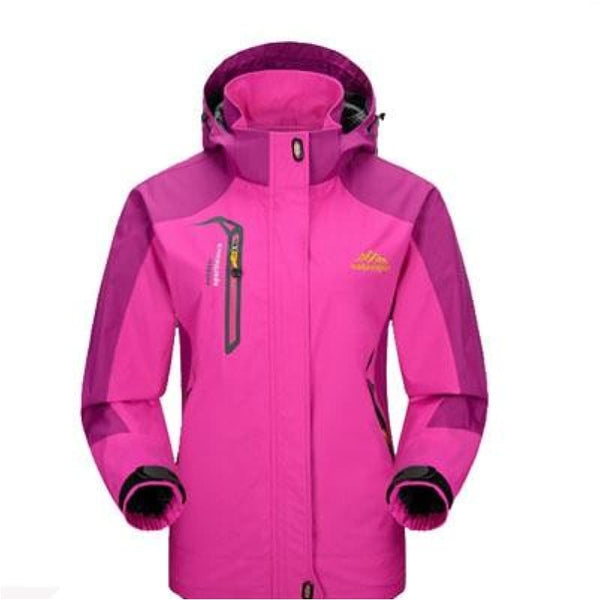 Women Spring Autumn Outdoor Hiking Jacket Waterproof Windproof Sports Coat - Rose / M - Free Shipping - Outdoor - Clothing - $29.00 | The