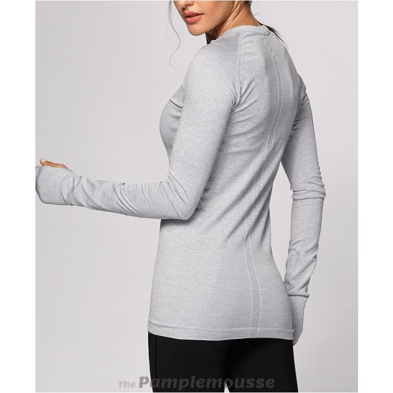 a9616e4f Womens Active Long Sleeve Sports Running Tee Top Seamless Leisure T-Shirt - Free  Shipping