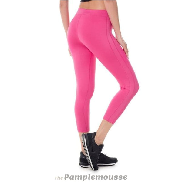 Womens Activewear Running Workout Sports Capri Tight Fit Leggings Pants - Magenta / M - Free Shipping - Sports - Clothing - $19.00 | The
