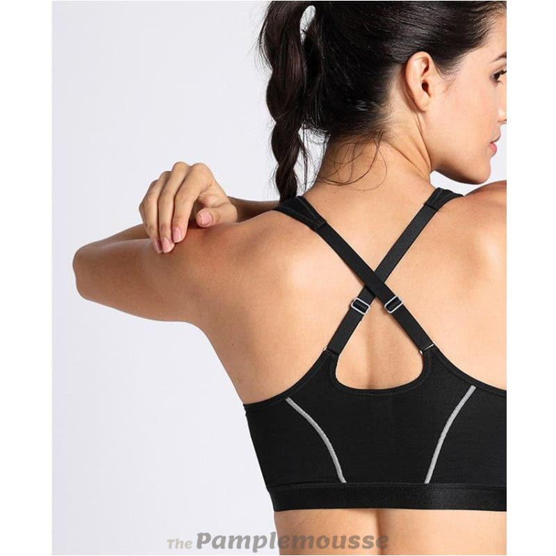 22f0e82eb8 Womens Full Support High Impact Front Closure Racerback Sports Bra - Free  Shipping - Sports -