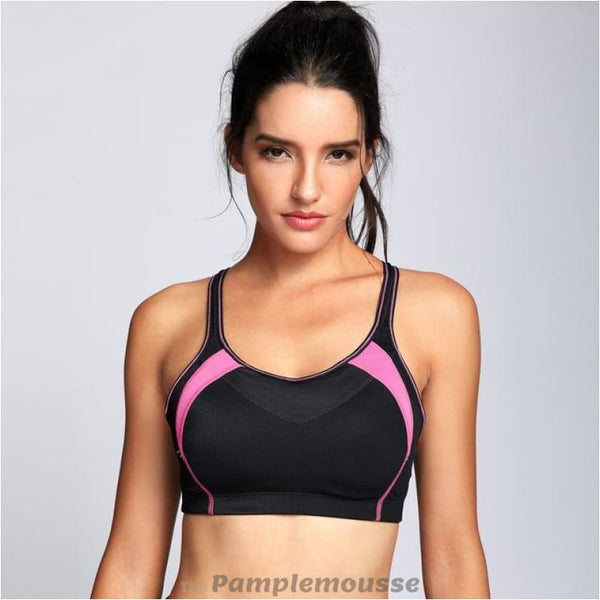 Womens High Impact Mesh Padded Cup Cross Back Gym Active Push Up Sports Bra - Black / A / 38 - Free Shipping - Sports - Clothing - $19.00 |