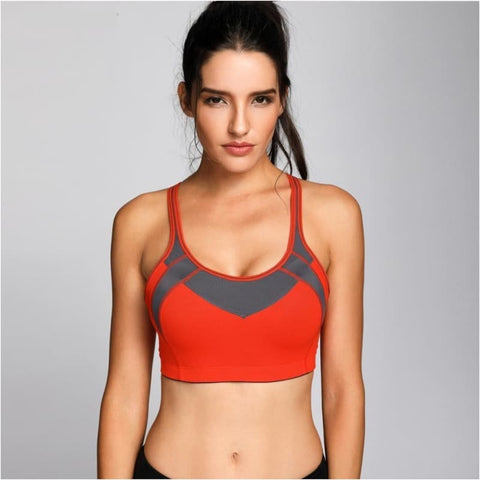 Womens High Impact Mesh Padded Cup Cross Back Gym Active Push Up Sports Bra - Free Shipping - Sports - Clothing - $19.00 | The Pamplemousse