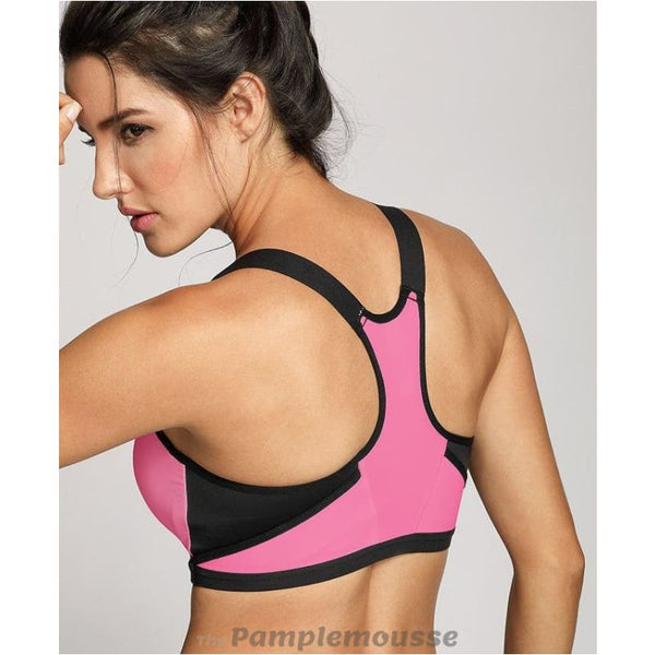 Womens High Impact Padded Racerback Ultra Support Pro Running Bra - Pink / B / 34 - Free Shipping - Sports - Clothing - $25.00 | The