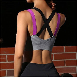 Womens Sexy Fitness Running Bra Yoga Padded Push Up Gym Sports Bra - Free Shipping - Sports - Clothing - $15.00 | The Pamplemousse