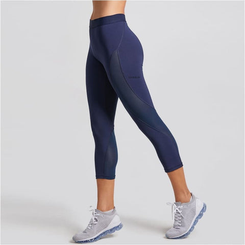 Womens Slimming Mesh Training Capri Leggings Sports Cropped Tights Workout Pants - Free Shipping - Sports - Clothing - $25.00 | The
