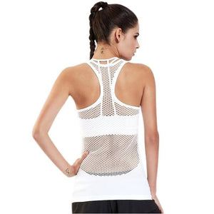 Womens Yoga Shirt Summer Mesh Hollow Out Breathable Fitness Sport Top Sleeveless Workout Tank Top - Free Shipping - Sports - Clothing -