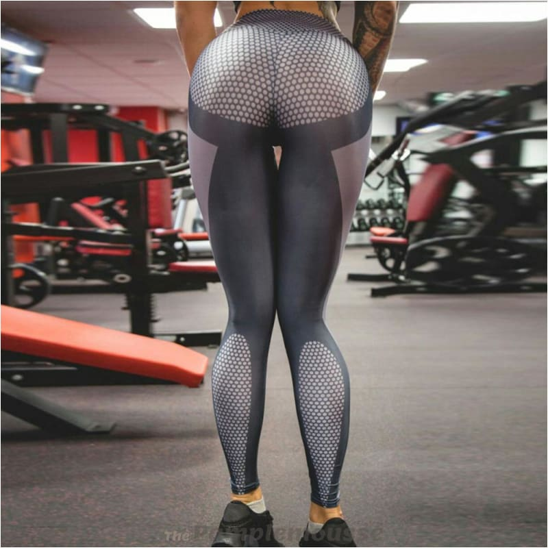 7e02d54dc3 Workout Running Sexy Yoga Pants High Waist Slim Silver Gray Stretched Gym  Fitness Leggings For Women