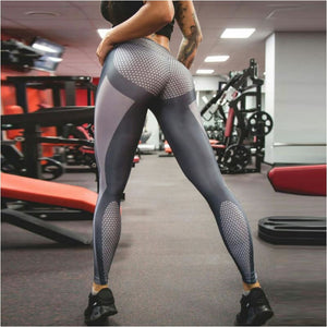 Workout Running Sexy Yoga Pants High Waist Slim Silver Gray Stretched Gym Fitness Leggings For Women - Free Shipping - Outdoor - Outdoor -