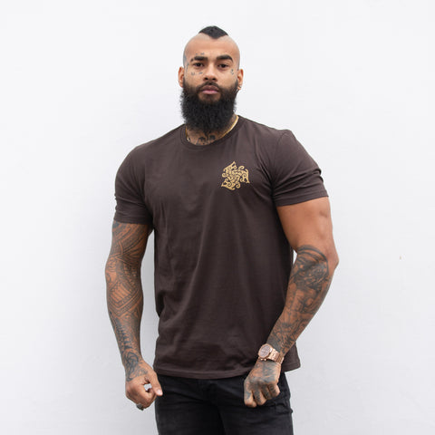Three Beast Logo T-Shirt (Chocolate)