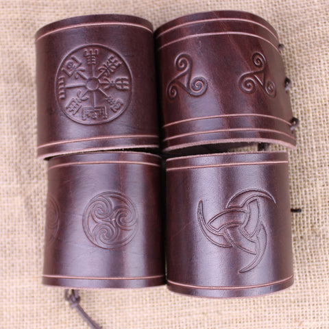 Dark brown wrist bracer