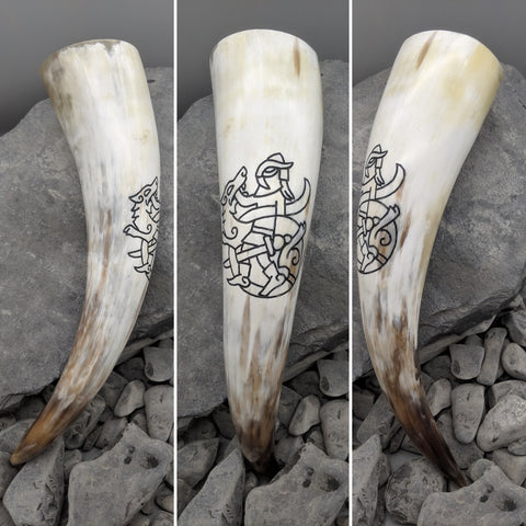 The Binding of Fenrir drinking horn