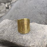 Rune shield ring (Elder Futhark)