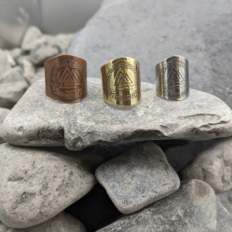 Valknut Shield Ring