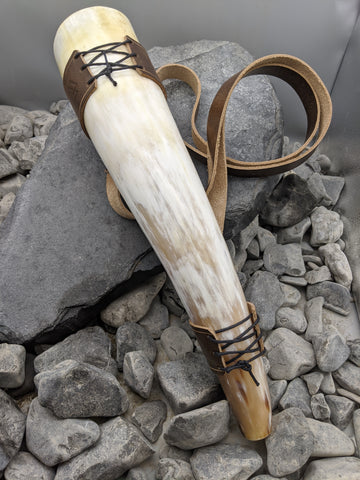 Large War horn with Shoulder Strap