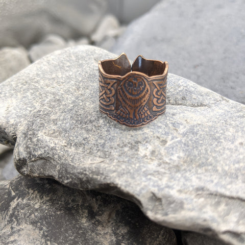 Owl cutout ring