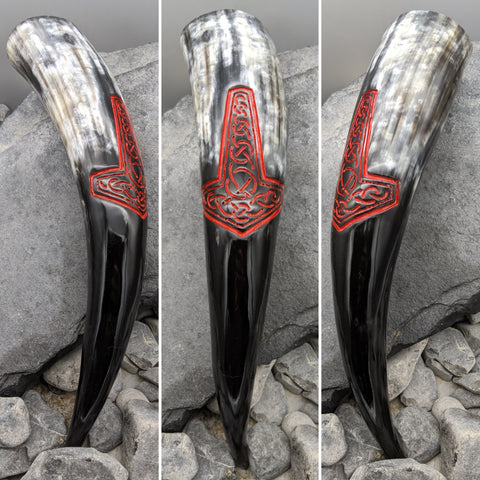 Mjölnir drinking horn (Red)