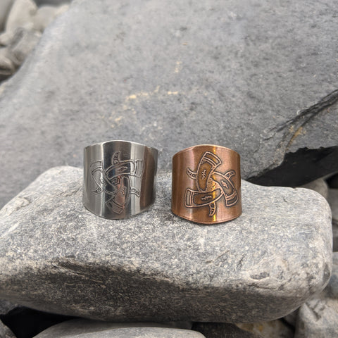 Horns of Odin Shield Ring
