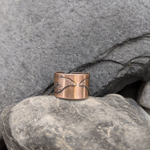 Hugin and Munin ring (Plain)