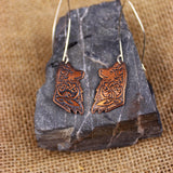 Geri and Freki earrings (Bronze)