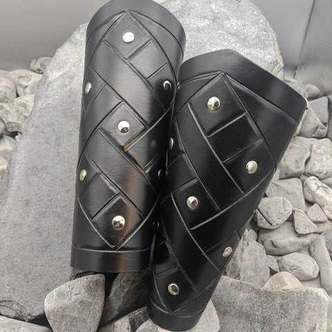 Studded full arm bracer