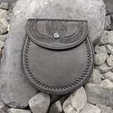 Hand tooled Viking belt bag