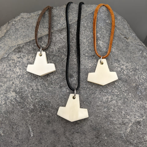 Mini Buffalo bone Mjölnir pendant