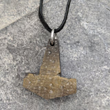 Battle worn Buffalo Horn Mjölnir pendant