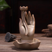 Load image into Gallery viewer, Hand Lotus Incense Burner