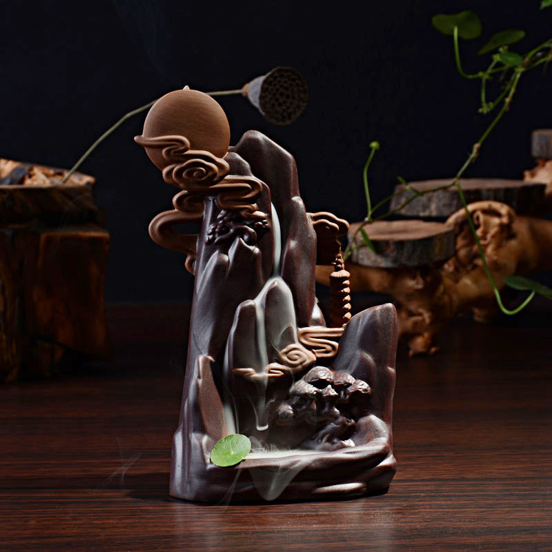 Moon Mountain Incense Burner