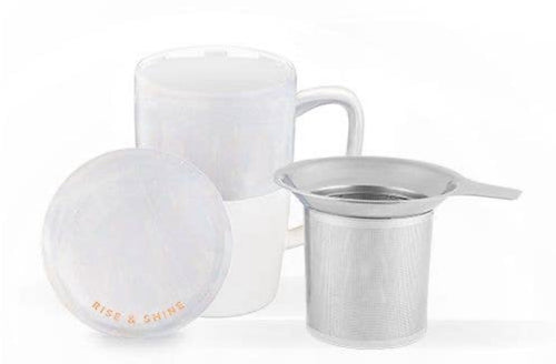 White Tea Mug with Strainer
