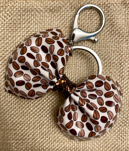 Coffee Beans Bow Keychain