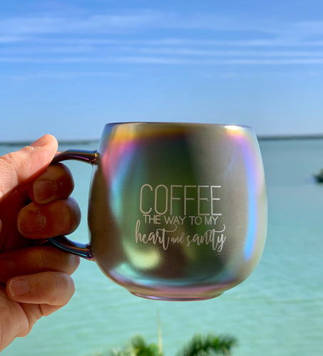 Heart & Sanity Iridescent 15 oz Mug