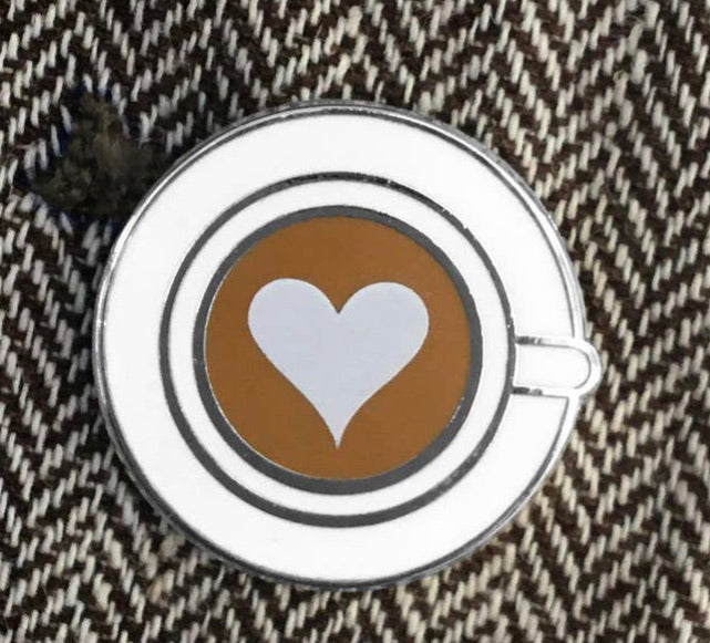 Latte Enamel Pin
