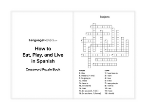 LanguagePosters.com - How to Eat, Play, and Live in Spanish Crossword Puzzle Book Preview