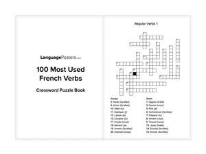 LanguagePosters.com - 100 Most Used French Verbs Crossword Puzzle Book Preview