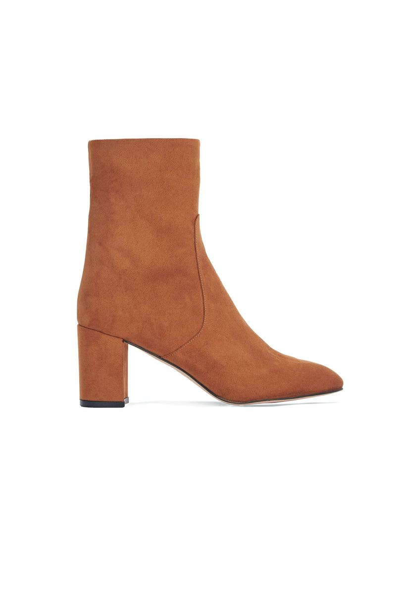 GABY BOOT in TAN SUEDE