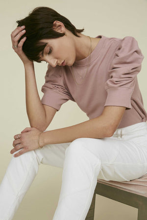 THE JUST ENOUGH PUFF SHORT SLEEVE in ROSE