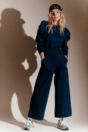 THE CULOTTE SWEATPANT in NAVY