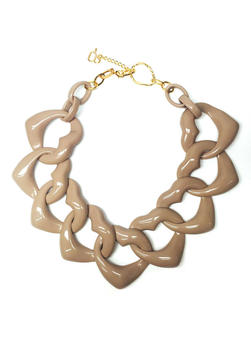 AMORE MEDIO RESIN NECKLACE - STONE