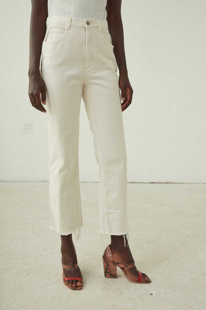 SLIM LEGION PANT - DIRTY WHITE DENIM