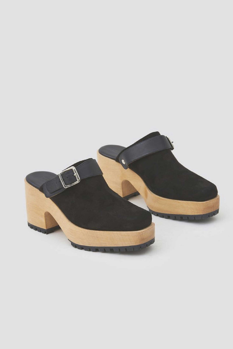 STEEL CLOG - BLACK