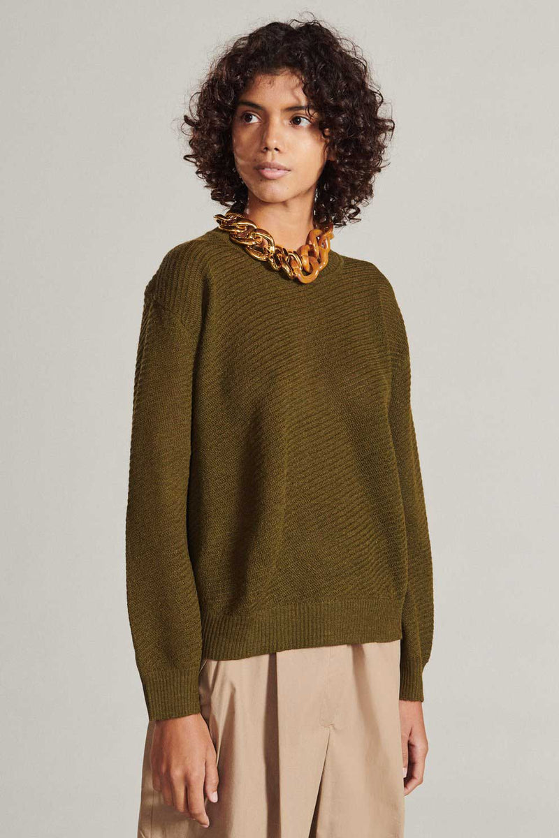 ROOT PULL OVER - MILITARY GREEN