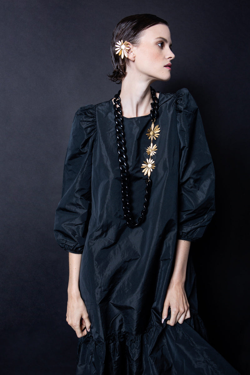 FLEURISTE NECKLACE - BLACK / GOLD